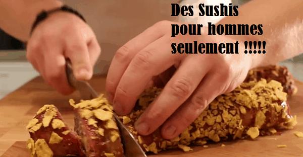 vidéo sushis pour hommes seulement