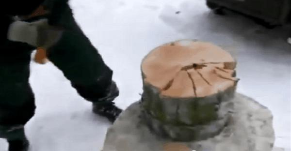 couper bois chauffage repidement vidéo