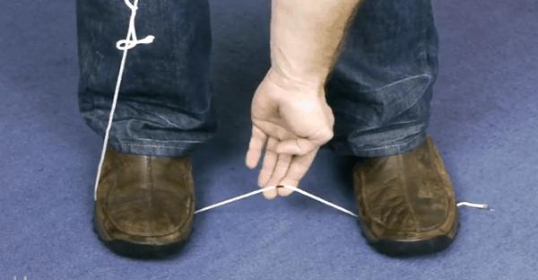 Pour l'astuce de la corde en nylon