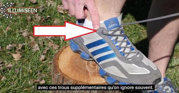 À quoi sert le petit trou de trop sur les chaussures de course? La réponse ICI!