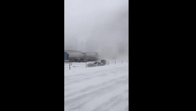 accident de voiture en hiver