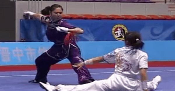 démonstration d'Aikido par des chinoises