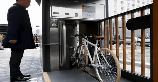 stationnement souterrain japonais pour vélo