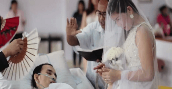 mariage sur lit de mort vidéo