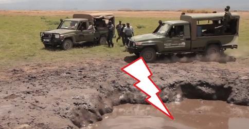 Un éléphanteau dans un trou de boue