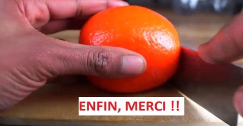 truc pour peler une orange