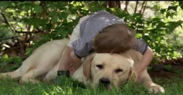 enfant et chien ensemble et ami