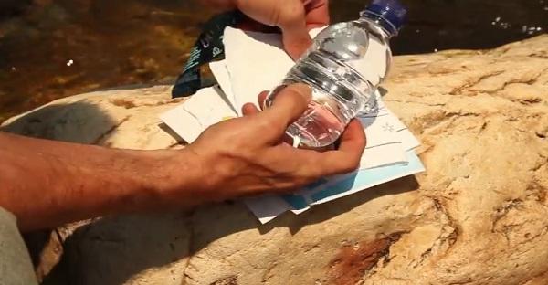 Faire un feu avec une bouteille d'eau! Est-ce possible? VENEZ VOIR!