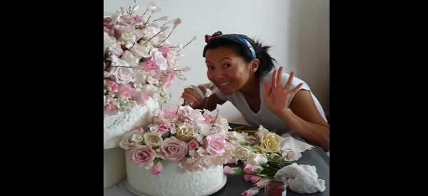 Elle met un an à fabriquer son gâteau de mariage. Le résultat est HALLUCINANT!